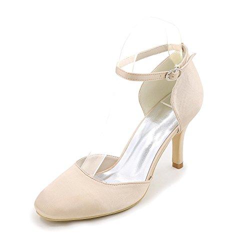 Elegant Damen-High Heels-Hochzeit Party & Festivität Kleid-Glanz-StöckelabsatzGold Weiß Schwarz Silber Champagne