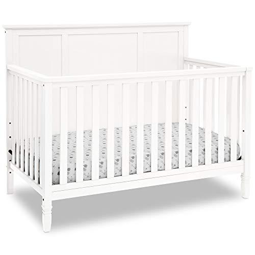 Delta Children Easton 4-in-1 Convertible Baby Crib, White