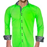 Neon Green and Black Moisture Wicking Dress Shirts - Made in the USA