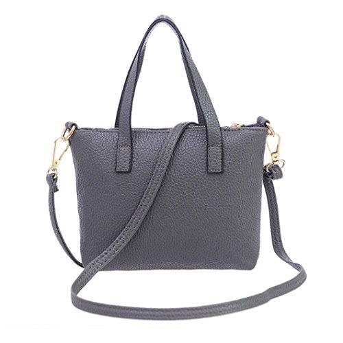 mujer Bolso para de mochila gris Lenfesh Sintética Piel pqYxd