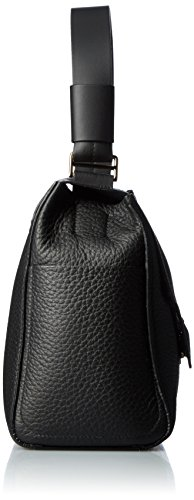 Furla Damen Capriccio M Top Handle Business Tasche, 14x24x32 cm Schwarz (Onyx)