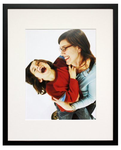 Artcare By Nielsen Bainbridge 16x20 Archival Tribeca Collection Black Frame With White Mat For 11x14 Image #WD19A41.  Includes: UV Glazed Glass and Anti Aging - Images Free Glasses