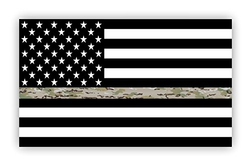 - Thin Green Line Flag Decal Operational Camouflage Pattern OCP Camo USA American Flag Sticker for Cars Trucks in Honoring and Support of Our Troops Black Camo and White Vinyl Window Bumper 5 x 3 inch