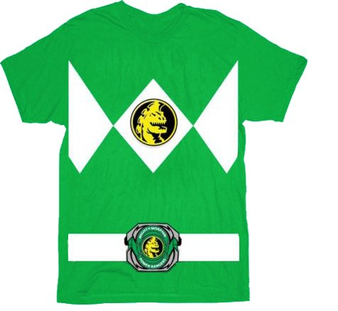 Power Rangers The Green Rangers Costume T-Shirt Tee