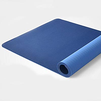 Yoga mat Eco Friendly Non Slip, High Density Exercise with Carrying Straps (6MM)