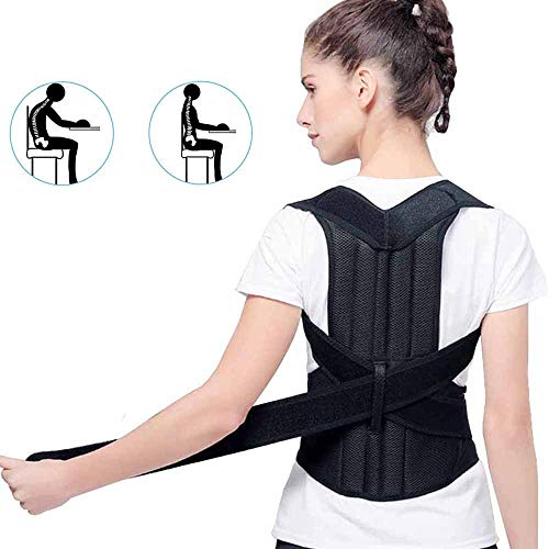 Tcare- Adjustable Posture Corrector Brace Back suppport Brace for Men and Women - Upper Back Pain Relief - Improve Bad Posture and Back Pain (L)