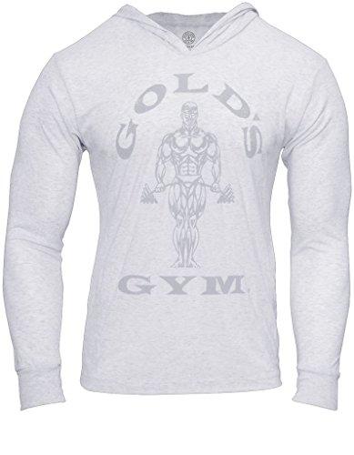 Golf Vintage Sweatshirt (2016 Gold's Gym Mens Muscle Joe Tri-Blend Sport Fitness Pullover Mens Training Hoodie Vintage White Medium)