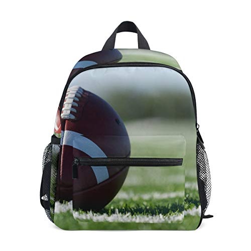 Funny Print Football Players Lightweight School Backpack for Boys Girl Kids