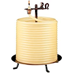 Candle by the Hour 144-Hour Candle, Eco-friendly Natural Beeswax with Cotton Wick