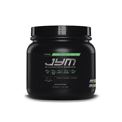 JYM Supplement Science, PRE JYM, Black Cherry, Pre-Workout with BCAAs, Creatine HCl, Citrulline Malate, Beta-alanine, Betaine, Alpha-GPC, Beet Root Extract and more, 20 Servings