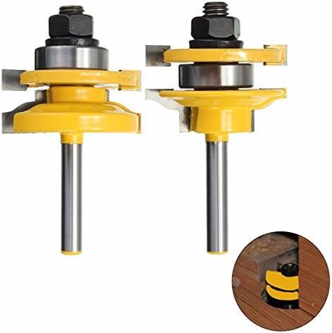 木工のための Queenwind Queenwind 1/4 インチシャンクレールとかまちルータビット標準 Ogee ビット