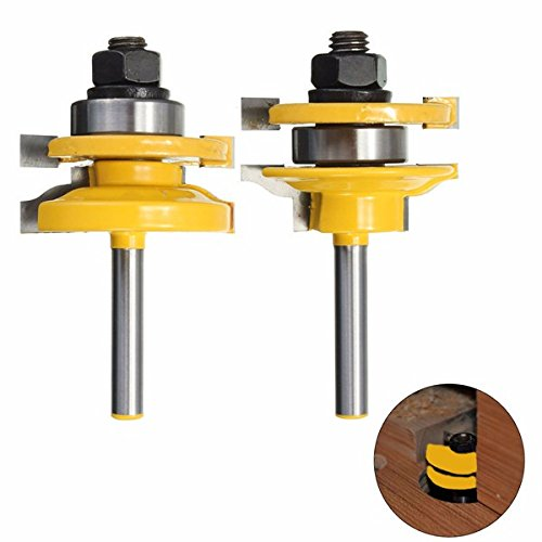 1/4 Inch Shank Rail and Stile Router Bits Standard Ogee Bits for Woodworking by BephaMart