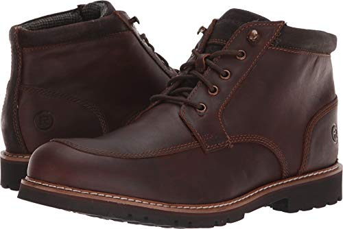 Rockport Men's Marshall Rugged Moc Toe Boot, saddle brown, 11 M -