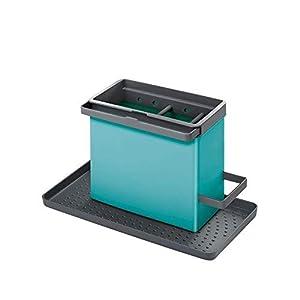 Metaltex Organizador para fregaderos, Turquesa, 24×12,5x14cm 41Bg1w1eQqL