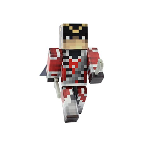British Redcoat Action Figure Toy, 4 Inch Custom Series Figurines by EnderToys (Minecraft Foam Iron Pickaxe)