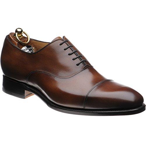 Herring Herring Dickens - Zapatos de cordones para hombre negro marrón tabaco