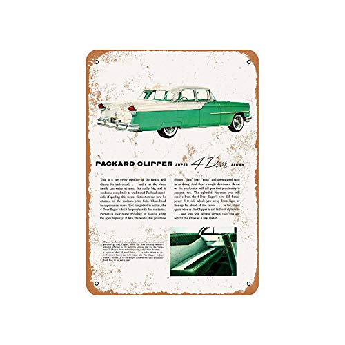 Fhdang Decor Vintage Pattern 1955 Packard Clipper Super Sedan Vintage Look Metal Sign Aluminum Sign,6x9 Inches