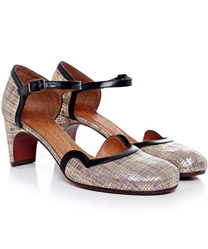 Chie Mihara Mujeres Taco Piano tobillo correa zapatos Beige Beige