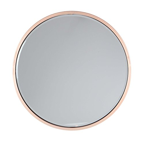 "Deco 79 56972 Round Iron Wall Mirror, 24"" D, Gold - Dimensions: 24X2X124 Dimensions 2: MIRROR 22 Theme: Modern Reflection - bathroom-mirrors, bathroom-accessories, bathroom - 41Bg35BpAtL -"