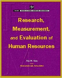 Research Measurement /& Evaluation of Human Resources