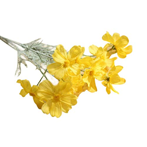 Fake Flower LJSGB Simulate 10 Chrysanthemums Bunch of Fake Flowers Fake Flowers for Wedding Centerpieces Artificial Flowers Yellow