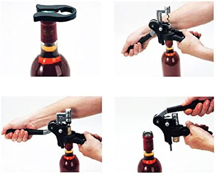 OUNONA Sacacorchos Abridor de Botellas Conejo Patrón Abrelatas del Vino