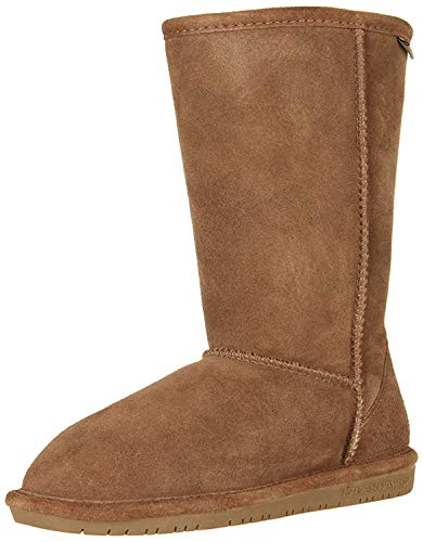 BEARPAW Emma Tall Youth Boot,Hickory/Champagne,3 M US Little Kid
