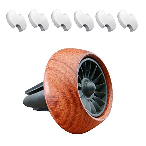 XYCING Car Air Freshener Vent Clip Essential Oil Diffuser Wooden Car Fragrance Aircraft Engine Style Aromatherapy Decoration with 6pcs Replacement PE Resin - Aircraft Engine