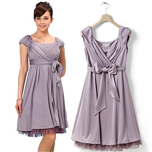 9b371671765535 Sweet Mommy Maternity and Nursing Waist Tie Sleeveless Dress Lavender