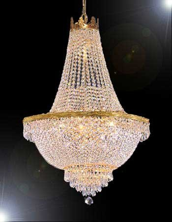 """French Empire Crystal Chandelier Lighting - Great for the Dining Room, Foyer, Living Room! H50"""" X W30"""" - Traditional Crystal Foyer Light"""