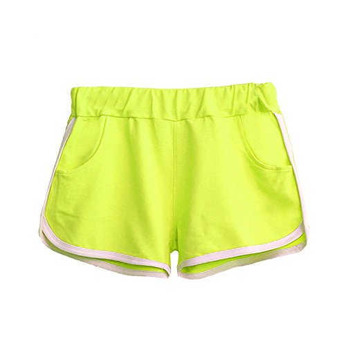 Price comparison product image Clearance Sale!FarJing New Women Summer Pants Sports Shorts Gym Workout Waistband Skinny Yoga Short(XL,Light Green)