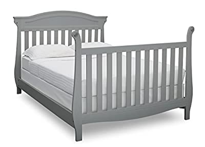 Full Size Conversion Kit Bed Rails for Delta Children's Lancaster Crib - Grey