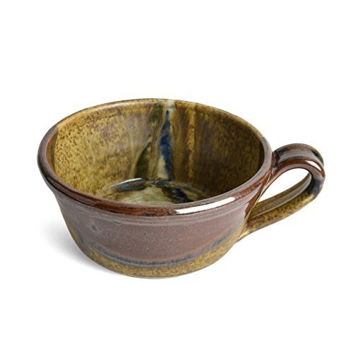 Larrabee Ceramics Handled Soup Bowl, Brown/Multi ()