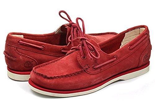 Timberland Damen Boots Lederschuh Pompeian Rot