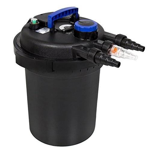 Pond Pressure Bio Filter With 13W Integrated Ultraviolet Purifier Sterilizer Clarifier Light Garden Pond Koi Pond Filtering UV Lamp Indicator Hose Adapters Bioballs Multi Directional Valve