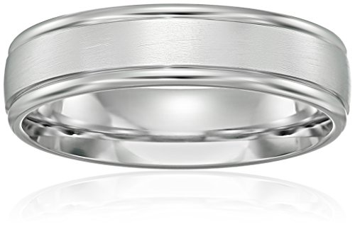 Mens-Platinum-Comfort-Fit-Wedding-Band-with-High-Polish-Round-Edges-with-Satin-Center-6-mm