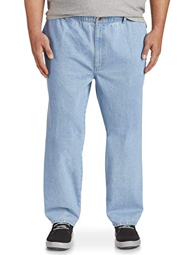 Harbor Bay by DXL Big and Tall Full-Elastic Jeans, Light Stonewash, 2XL ()