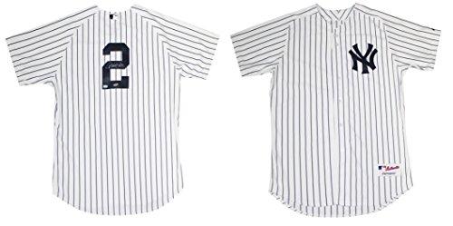 Steiner Sports MLB New York Yankees Derek Jeter Authentic Home White Pinstripe (Steiner Derek Jeter Signature Baseball)