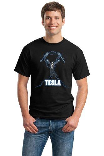 NIKOLA TESLA COIL Unisex T-shirt / Nerdy, Geeky, Engineer Funny Science Tee