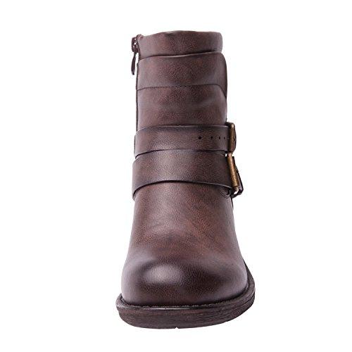 Globalwin Kvinnor 17yy12 Mode Stövlar Dk.brown