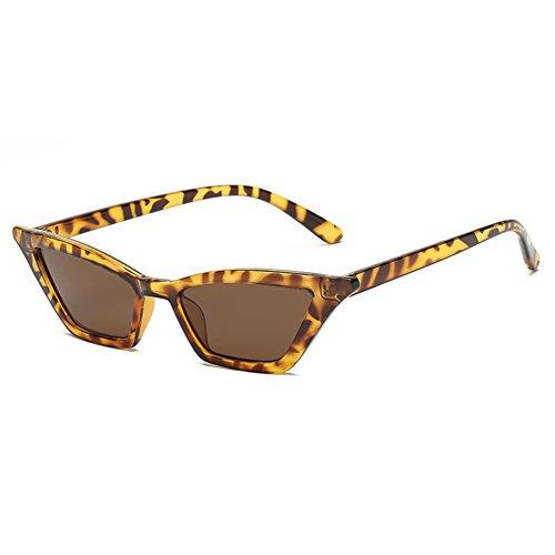 con Ojos Mujeres Sport Las Gafas de Eye de 2018 Vendimia de de Forma Tipo de Birthday de Gato Eyewear Sol Novedad la de Snap de gafafs LanLan Gift Marron Moda Gafas Gafas para 01Znq0aB