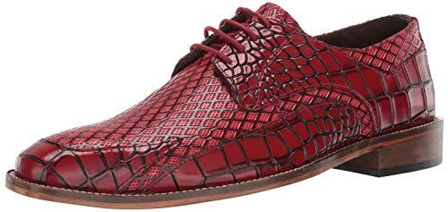 STACY ADAMS Men's Giansanti Croco-Rombo Print Lace-Up Oxford, red 13 M US ()