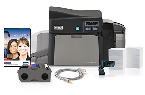 Fargo PV DTC4250e Dual Sided-Printer Cable, AsureID Express Software, High-End USB Digital Camera, EZ-Full Color Ribbon Cartridge (250 Images), 300 UltraCard PVC Cards, 1 Pack of Cleaning ro, Unknown