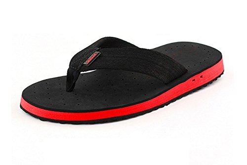 Black Transpirables Apoyo De Playa Con Flip Flops Arco Sandalias Zapatillas Piscina Fugas La Verano Los Hombres ZTWA7vqFa