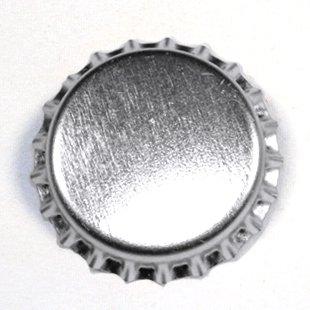 100 Chrome Bottle Caps New Silver Bottlecaps Cap Colored