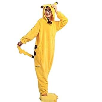 Disfraz de Pikachu Wanziee, sudadera con capucha tipo Cosplay, disfraz animé de Pókemon Go, pijama de dibujos animados, para fiestas de Halloween, en talles S, M, L y XL