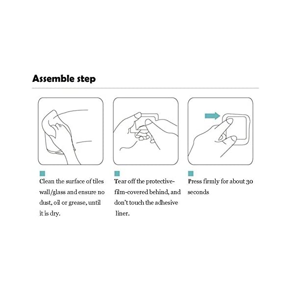 41Bg8opmP L Haken Selbstklebende Handtuchhaken ohne Bohren Wandhaken 4 Stk Klebehaken Edelstahl für Küche und Bad, von Ruicer