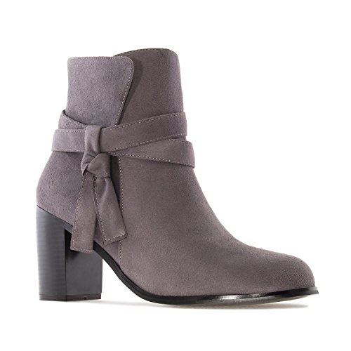 Andres Machado AM4090.Laced Ankle Boots In Suede.Womens Petite&Large Szs:US 2 To 5 -US 11.5 To 13/EU 32 To 35 -EU 43 To 45 Grey Suede vfS18Yrq