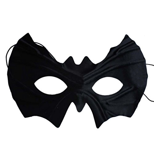 Facemask, Hmane Half Face Charming Batman Eye Mask Venetian Masquerade Mask - Black (Simple Venetian Costumes)