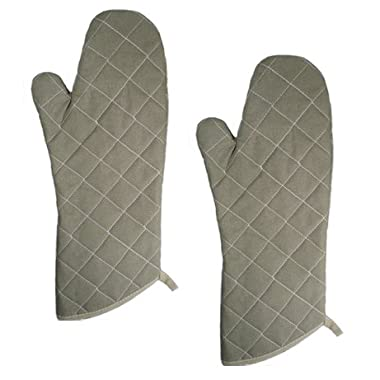 NEW, 17-Inch Flame Resistant Oven Mitts, Flame Retardant Mitts, Oven Mitt, Heat Resistant to 400° F, Set of 2